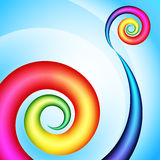 Colorful swirl shape Royalty Free Stock Images