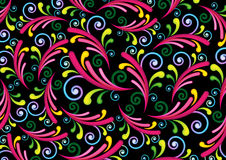 Colorful swirl & spiral background Stock Photography