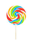 Colorful swirled Lollipop Isolated Stock Photography