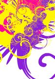 Colorful swirls. Yellow violet magenta Stock Image