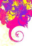 Colorful swirls. Yellow violet magenta Stock Images