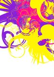 Colorful swirls. Yellow violet magenta Royalty Free Stock Photography