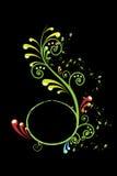 Colorful swirls. Isolated on black background Royalty Free Stock Photo