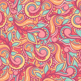Colorful swirls and petals Stock Photos