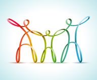 Colorful swirly figures family Royalty Free Stock Photo