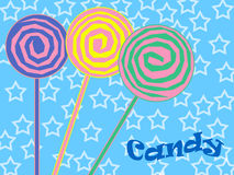 Colorful swirly lollipos Stock Photography