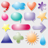 Colorful symbol collection Royalty Free Stock Images