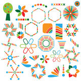 Colorful symbol collection Royalty Free Stock Image