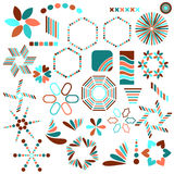 Colorful symbol collection Royalty Free Stock Photo