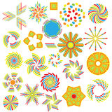 Colorful symbol collection Stock Photos