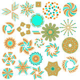 Colorful symbol collection Stock Images