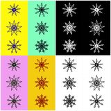 Colorful Symbol Design Pattern Collage Royalty Free Stock Photos