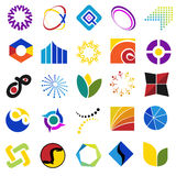 Colorful symbols. A collection of different colorful symbols and pattens Royalty Free Stock Photo