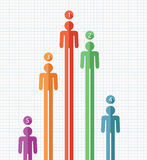 Colorful symbols of people, vector  Stock Photo