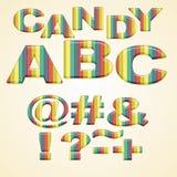Colorful Symbols stylized candy Royalty Free Stock Photo