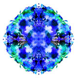 Colorful symmetric watercolor painting Royalty Free Stock Image
