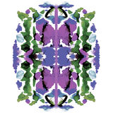 Colorful symmetric watercolor painting stock illustration