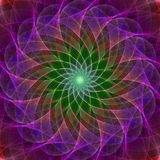 Colorful symmetrical abstract background. Intricate details Royalty Free Stock Image