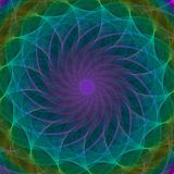 Colorful symmetrical abstract background. Intricate details Stock Photography