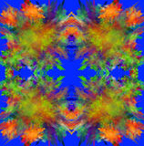 Colorful symmetrical fractal background. Computer generated grap Royalty Free Stock Image