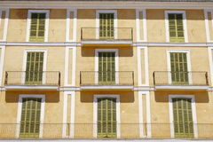 Colorful and symmetrical historic facade Royalty Free Stock Photo