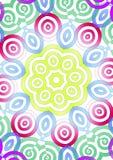 Colorful symmetrical illustration royalty free stock photo