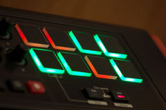 Colorful synthesizer buttons. Stock Photo