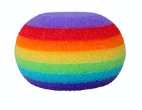 Colorful synthetic bath sponge Stock Photo