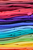 Colorful t-shirt clothes abstract texture background Stock Photos