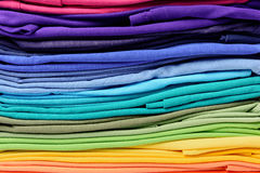 Colorful t-shirt clothes abstract texture background Royalty Free Stock Images