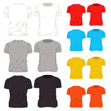 Colorful T Shirt Template Icon Set Stock Photography