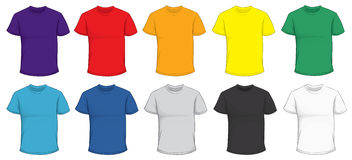 Colorful T-Shirt Template Stock Photography