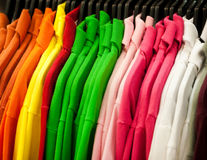 Colorful t-shirts Stock Image