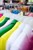 Colorful t-shirts Royalty Free Stock Photography