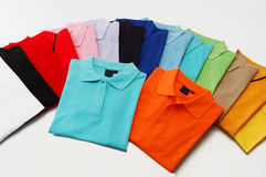 Colorful T shirts. With white background Stock Photo
