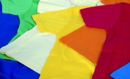 Colorful t-shirts Royalty Free Stock Photos