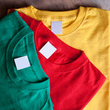 Colorful T-shirts stock photography