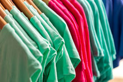 Colorful t-shirts Royalty Free Stock Photo