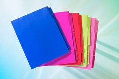 Colorful tabbed folders Stock Image