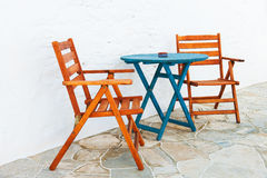 Colorful table and chairs arrangement Stock Photography