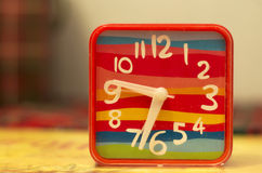 Colorful table clock Royalty Free Stock Photography