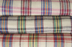 Colorful tablecloth texture wallpaper Royalty Free Stock Photo