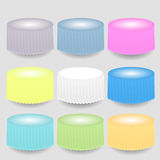Colorful Tableclothes. Set of Colorful Tableclothes  on Grey Background Royalty Free Stock Images