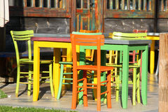 Colorful tables Royalty Free Stock Photos