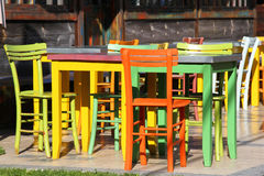 Colorful tables Stock Image