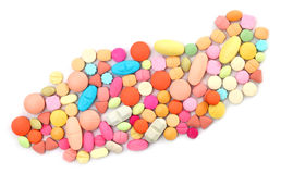 Colorful tablets Royalty Free Stock Photo