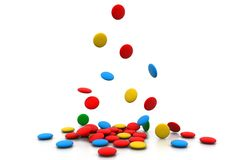 Colorful tablets Stock Photos