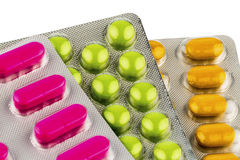 Colorful tablets in blister pack Royalty Free Stock Photo