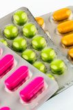 Colorful tablets in blister pack Royalty Free Stock Image