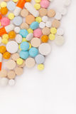 Colorful tablets with capsules. Closeup Royalty Free Stock Images
